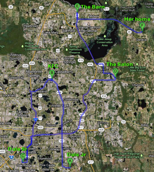 michelle Parker_missing FL_map