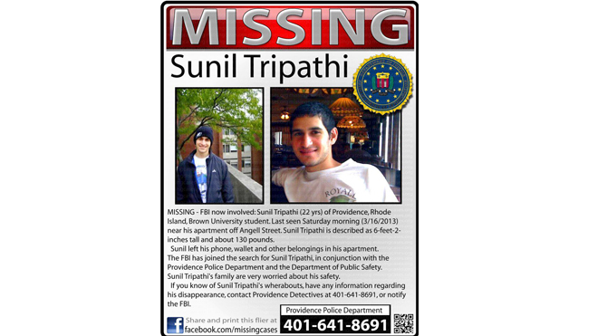 Sunil Tripathi_missing