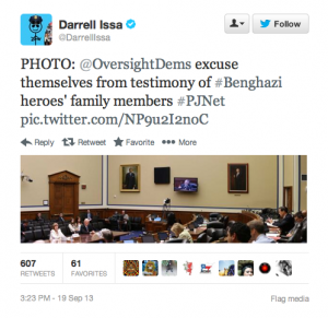Tweet_DEM Benghazi walkout