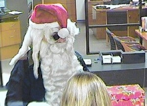 Photo: Santa Claus bank robber