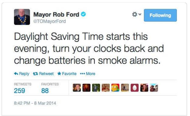 Tweet_Rob Ford_Daylight Savings