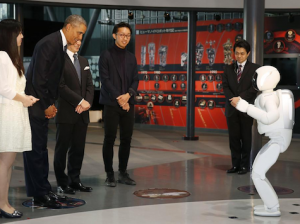 Obama Bows to Japanese Robot