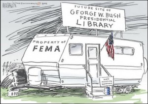 bush-library-fema-trailer
