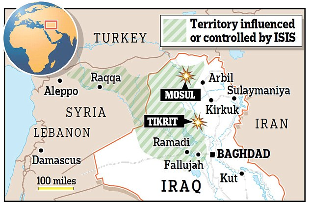territory iraq graphic blast in tikrit PAPER ISIS CORRECTED