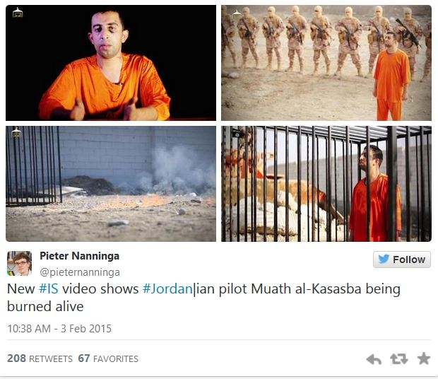 Tweet_ISIS burns Pilot