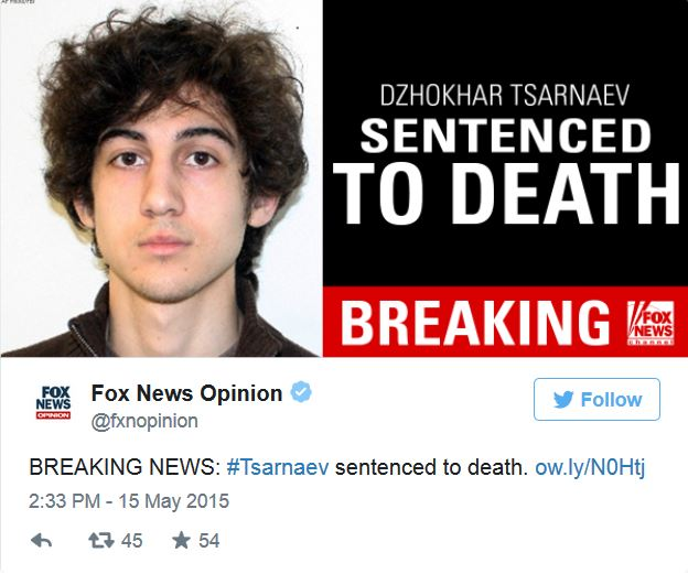 Boston Bombing Suspect Thought To Be Dzhokhar A Tsarnaev: Dzhokhar Tsarnaev, Boston Marathon Bomber Sentenced To