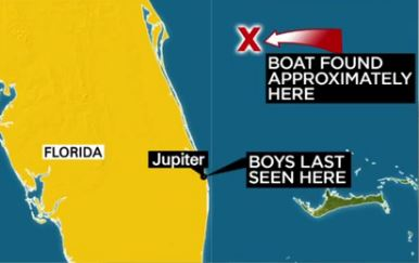 Missing Boys at sea