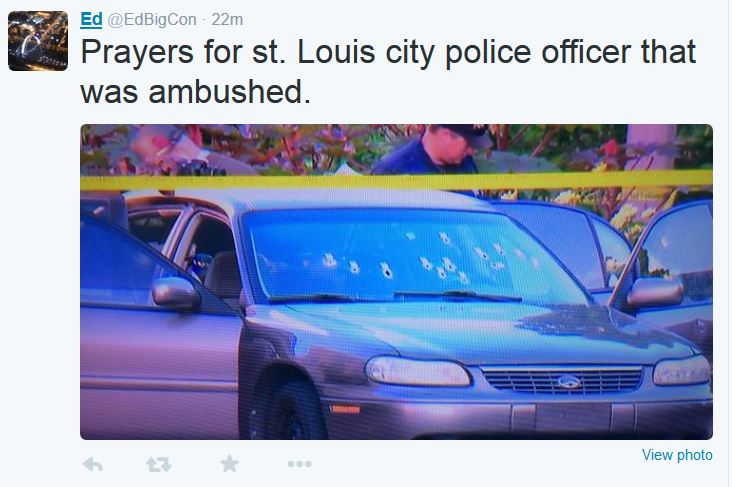 Police Officer Shot St Louis