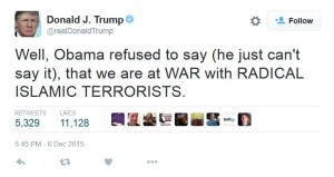 Trump_tweet_cant say radical islam