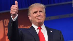 Donald Trump thumbs up