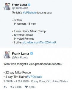 vp dEBATE fOCUS GROUP
