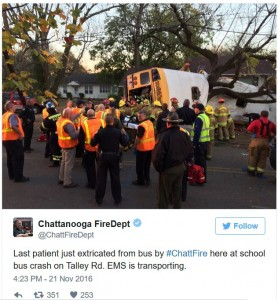 Bus Crash Chatanooga TN Tweet