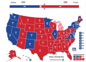 Electoral college map - 2016 final