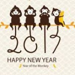 Happy New Year 2017 Monkey