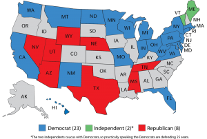 2018 US Senate map