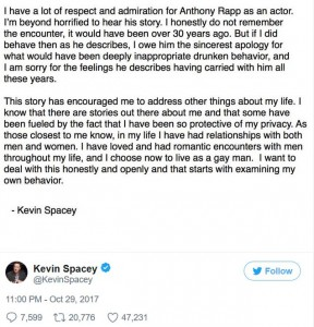 Kevin Spacey apology