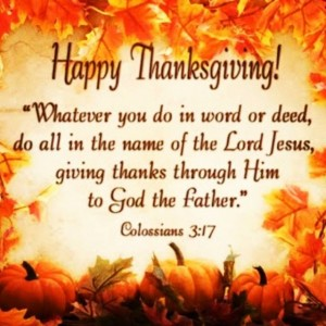Thanksgiving Colossians-3-17