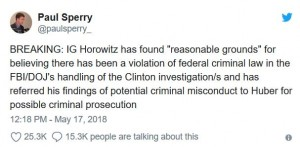 IG Report_Hillary Tweet
