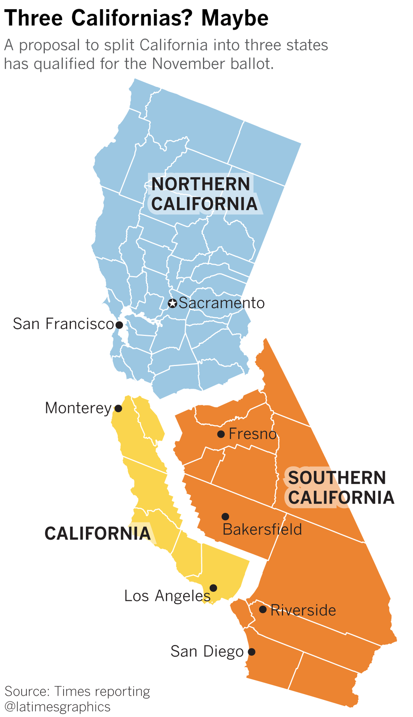 A Look At How Splitting California Into Three Separate States