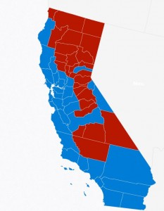 California counties 2016 vote