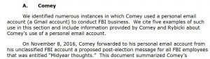 IG report Comey Gmail